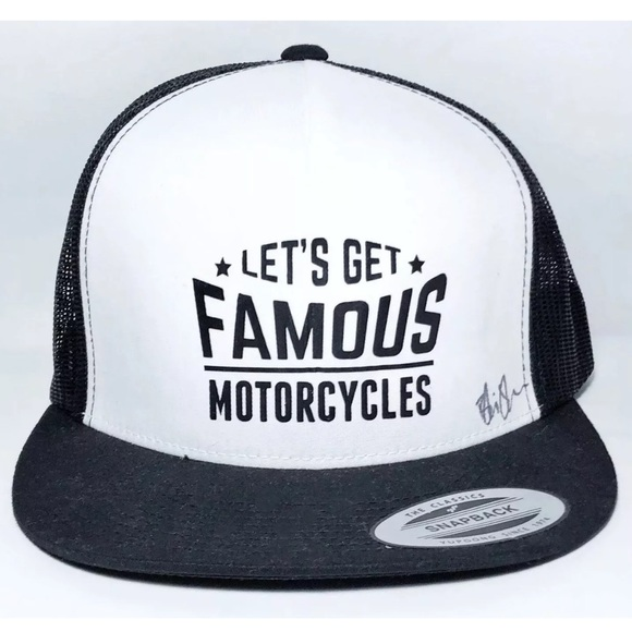 The Classic Other - Lets Get Famous Motorcycles Snapback Trucker Hat